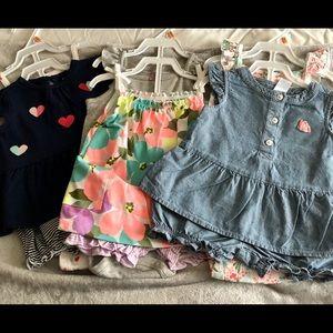 Infant girls 3, 3pc spring/summer lot